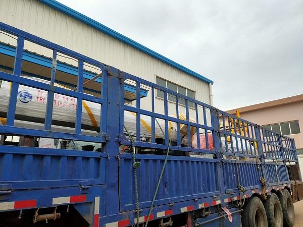 PE波纹管材生产线发往烟台开发区