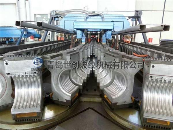 HDPE/PP塑料双壁波纹管生产线结构特点